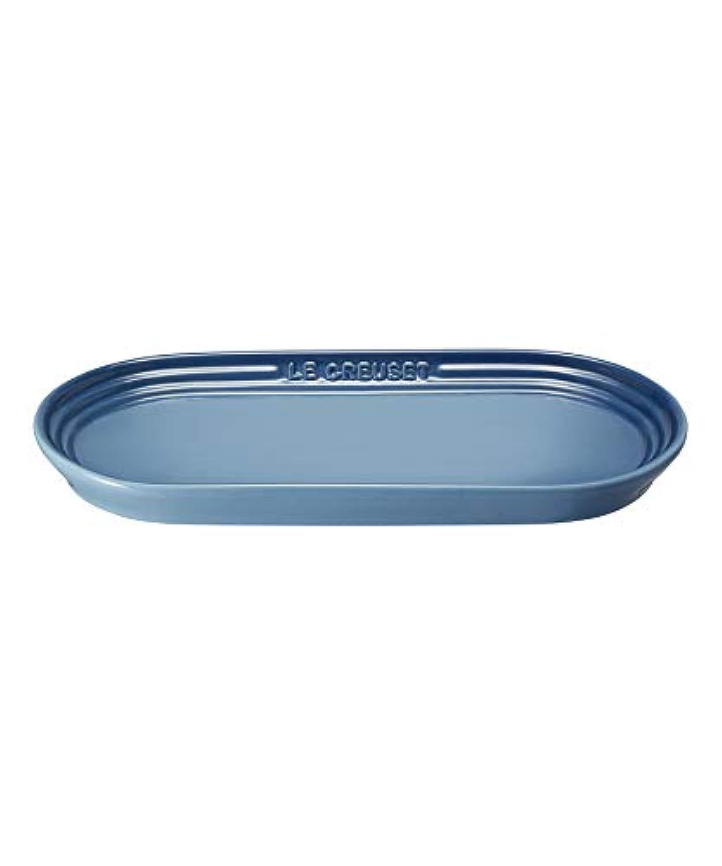 ルクルーゼ オブロング プレート 長皿 マリンブルー