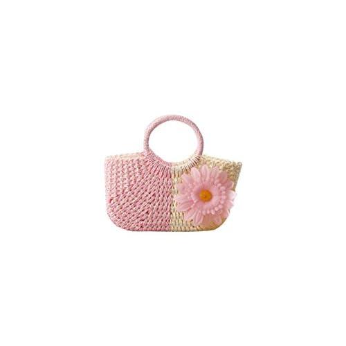 (チェリーレッド) CherryRed レディース ファション カゴバッグ 藤草編み 手提げバッグ プール 海 リゾート 可愛い 大きい花 1#