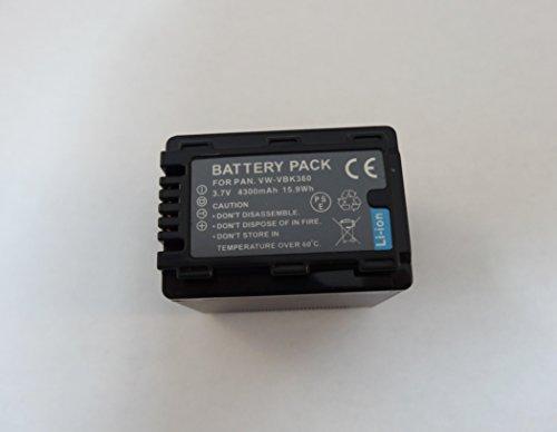 【オリジナル】 ポータブルタイプ パナソニック Panasonic VBK360 / VBK360-K 対応 薄型互換充電器(USB)+互換バッテリー 4300mAh 1個の2点セット HDC-TM70 / HDC-TM60 / HDC-HS60 / HDC-TM35 / HDC-TM90 / HDC-TM95 / HDC-TM85 / HDC-TM45 / HDC-TM25 / HC-V700M / HC-V600M / HC-V300M / HC-V100M など 薄型USBタイプでもち運びにも便利! 純正同様、残量表示対応できます。