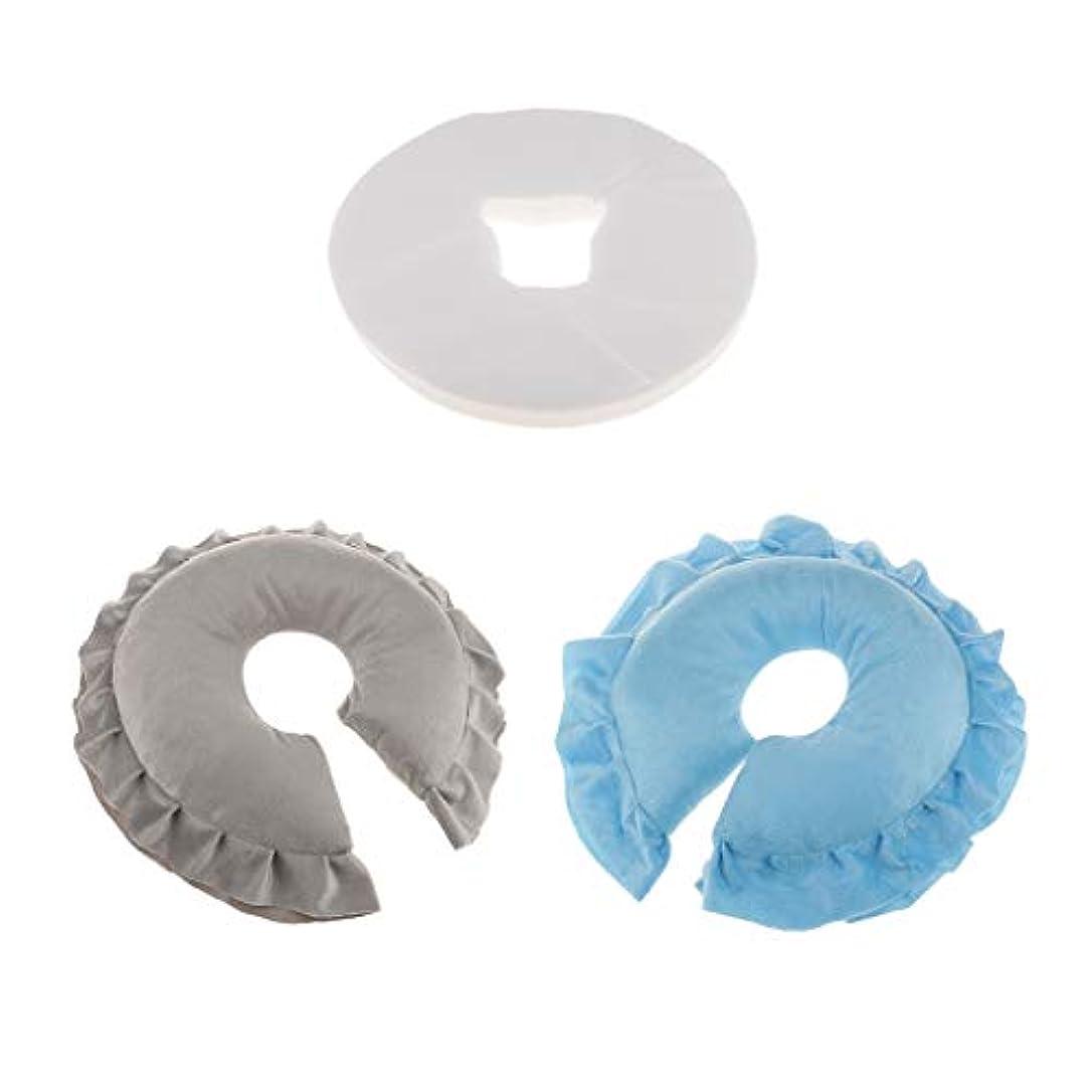アラーム壁紙予防接種FLAMEER フェイスクッション マッサージ枕 100個使い捨てクッションカバー付 柔らかく快適 2個入