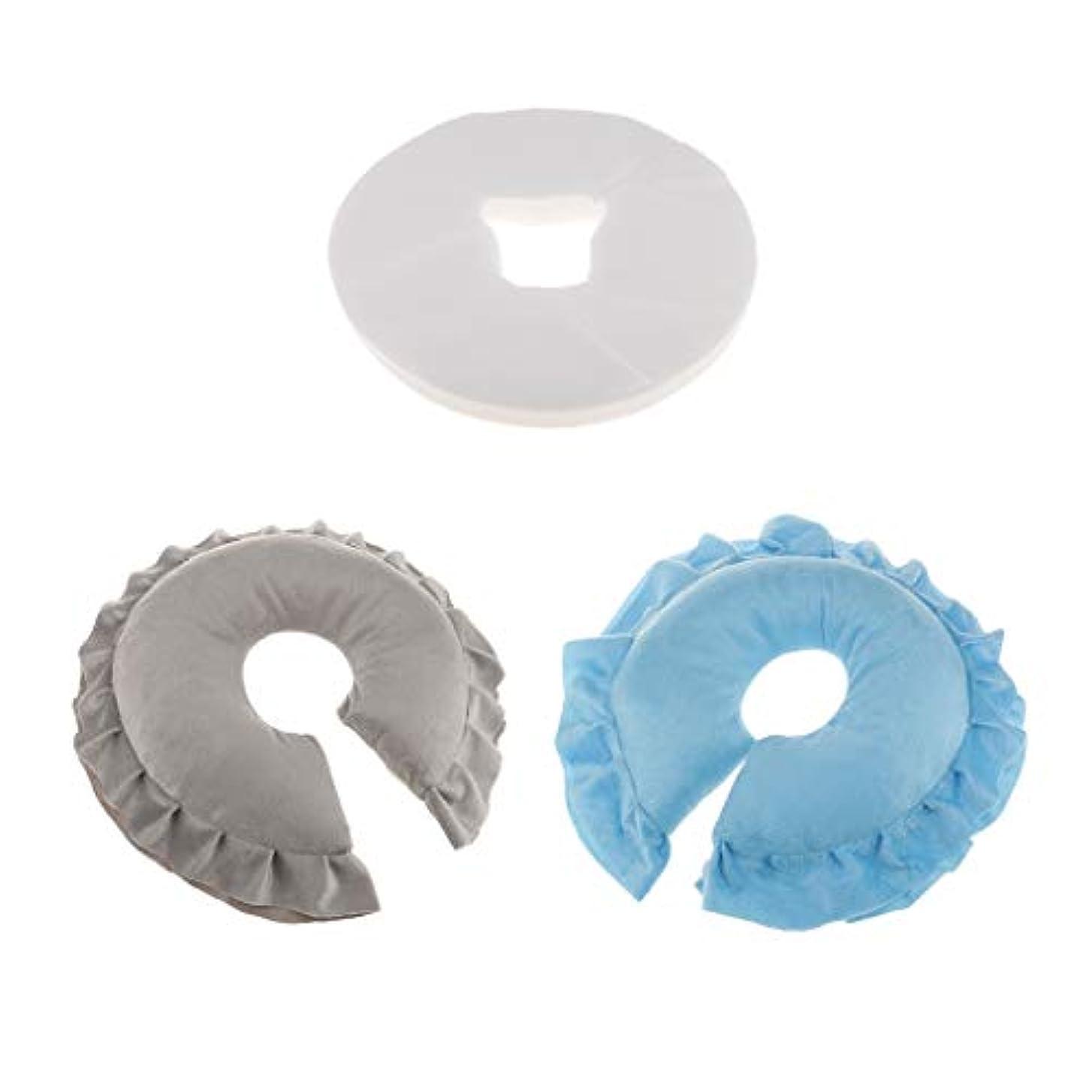 ミュウミュウ予防接種する分割フェイスクッション マッサージ枕 100個使い捨てクッションカバー付 柔らかく快適 2個入
