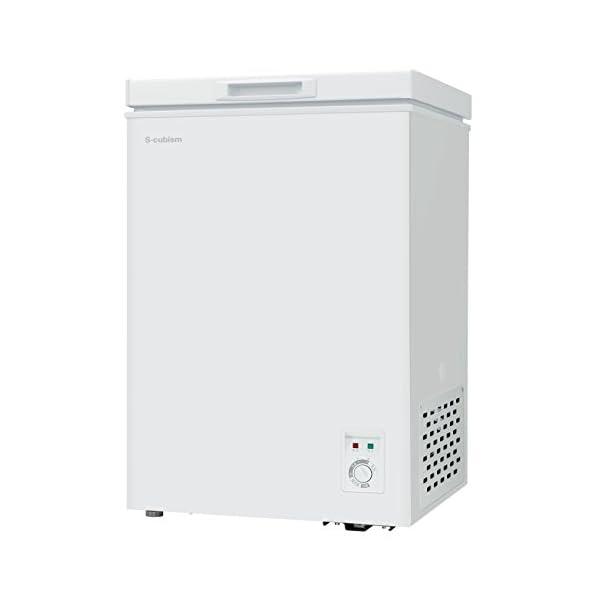 チェスト型冷凍庫 98L ホワイト 庫内灯付き ...の商品画像