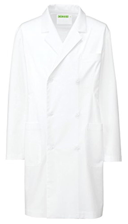 騒乱許す敬なカゼン KAZEN  メンズ診察衣W型ハーフ丈 REP205-10(ホワイト) L