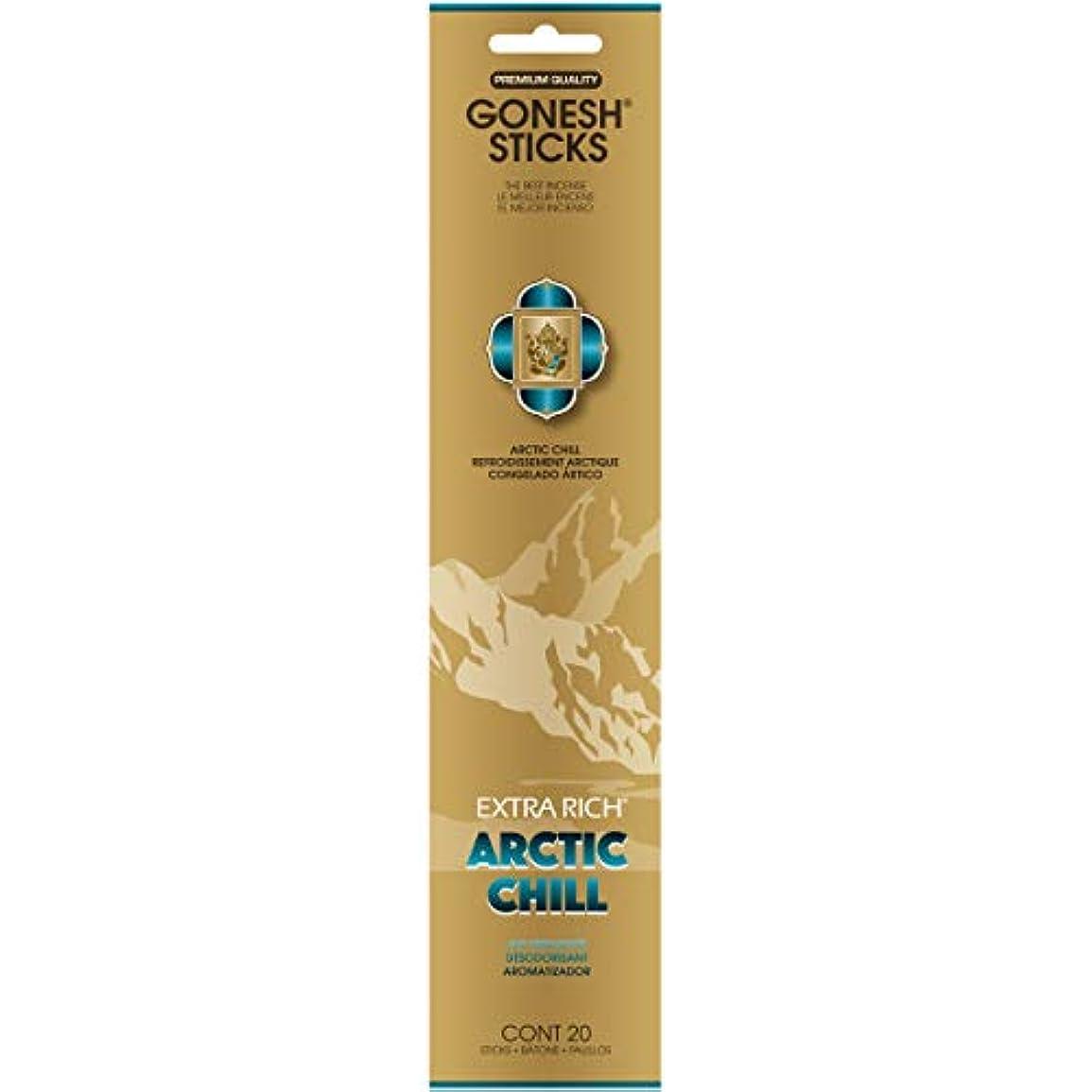 番号常識ほうきGONESH(ガーネッシュ) インセンススティック アドベンチャーコレクション Arctic Chill(ベルガモット?レモン?スパークリングミント?ムスク)
