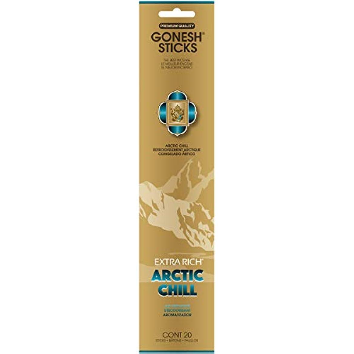 処理する日常的にクルーズGONESH(ガーネッシュ) インセンススティック アドベンチャーコレクション Arctic Chill(ベルガモット?レモン?スパークリングミント?ムスク)