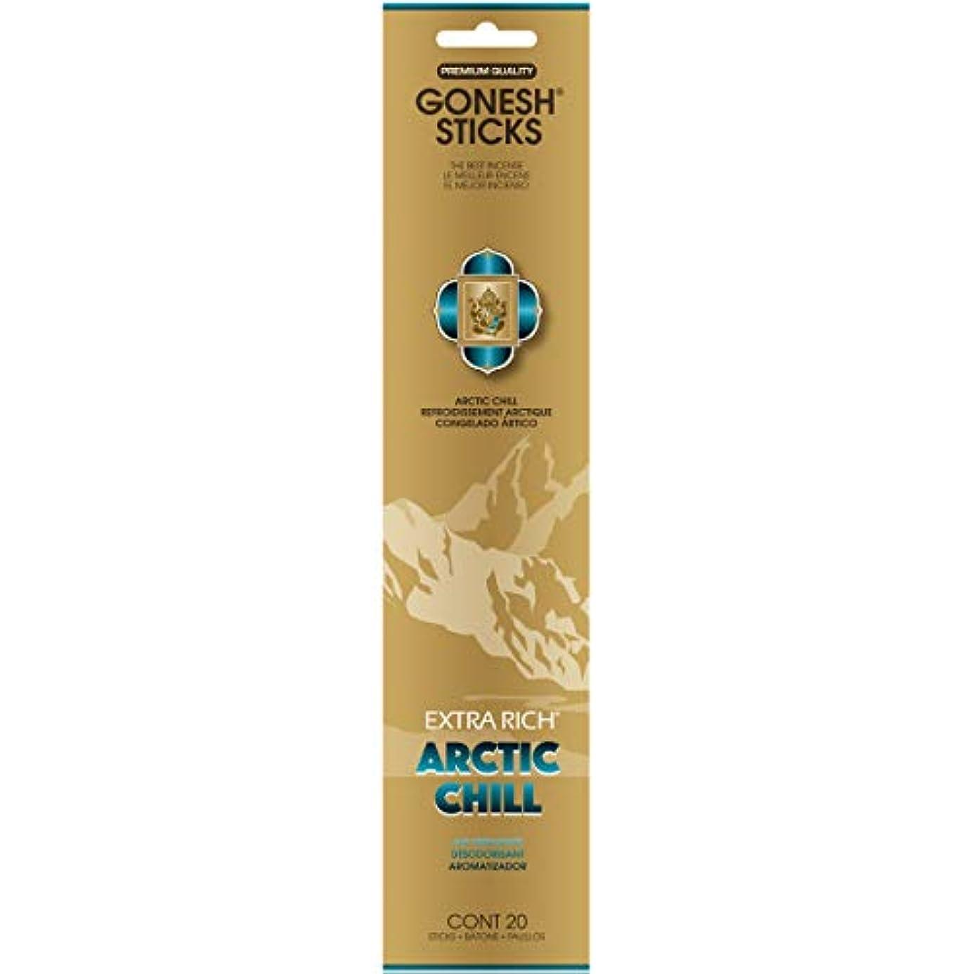 反毒自治コンペGONESH(ガーネッシュ) インセンススティック アドベンチャーコレクション Arctic Chill(ベルガモット?レモン?スパークリングミント?ムスク)