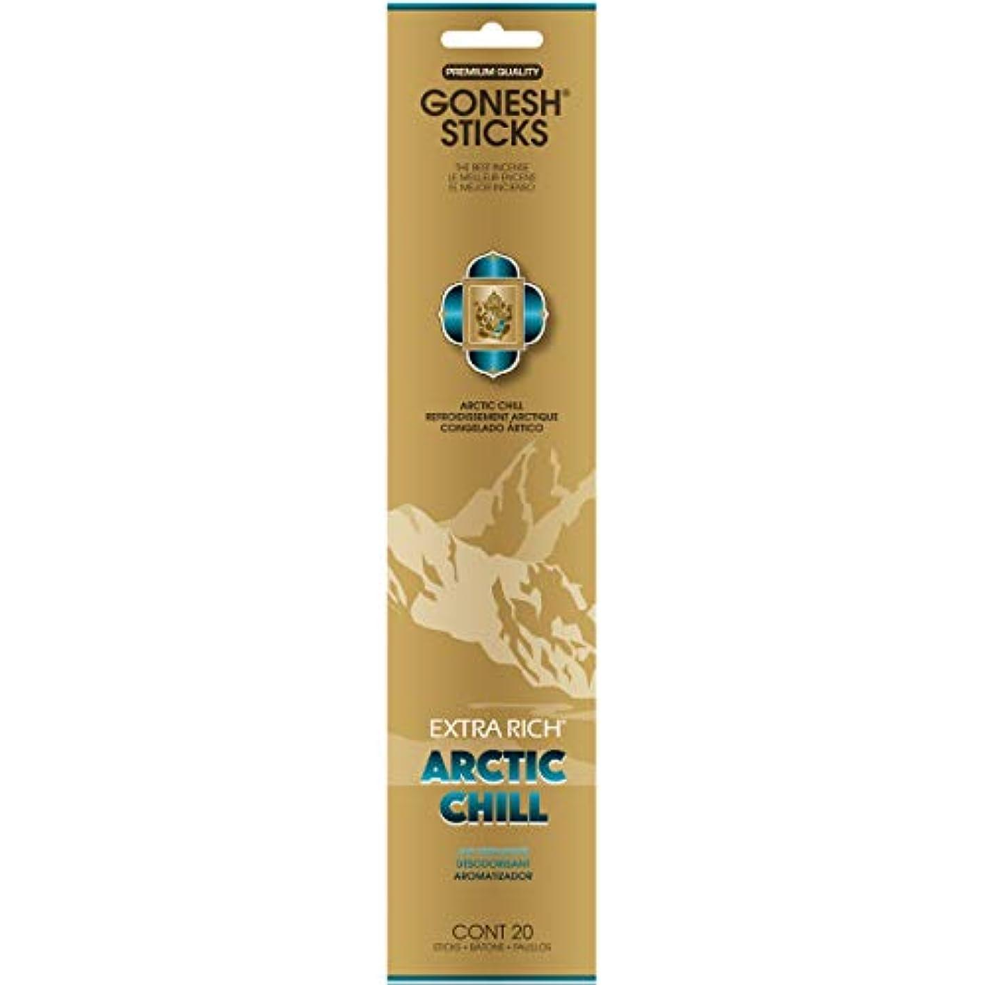 ボア尾ナイトスポットGONESH(ガーネッシュ) インセンススティック アドベンチャーコレクション Arctic Chill(ベルガモット?レモン?スパークリングミント?ムスク)