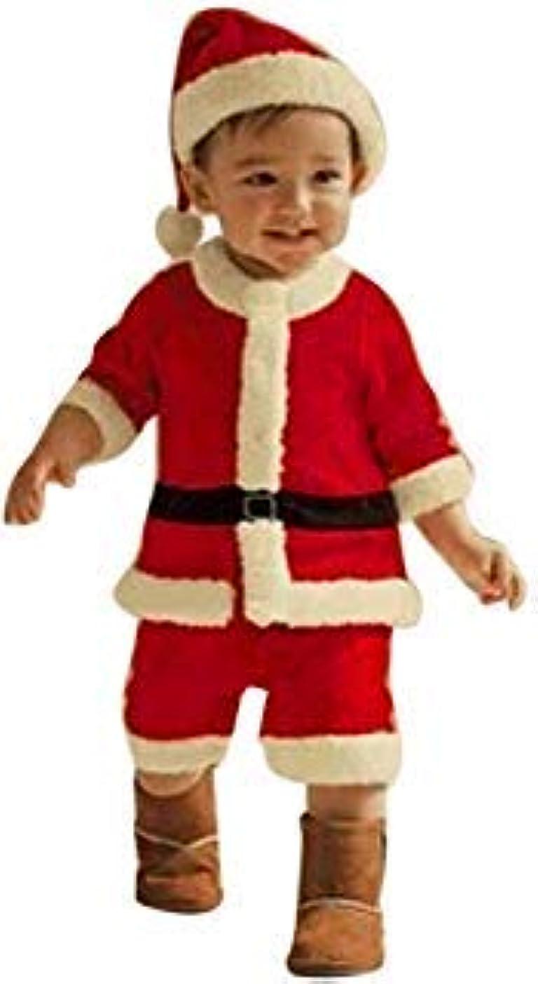 トランクライブラリ新しさ引き潮阿久津?木人気 子供服 男の子 女の子 クリスマス コスチューム 長袖 可愛い 仮装服 ドレス/ハット/ショール/Tシャツ帽子/パンツ/ベルト 2点3点/4点セット 80CM- 90CM-100CM-110CM-120CM-130CM-140CM-150CM-160CM(3-14歳) ((4点セット)赤, 【75-85CM】)