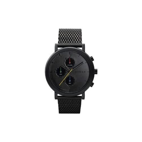 腕時計 HYGGE Watch - 2204 Series - Mesh - Black/Black【並行輸入品】