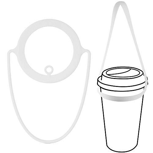 Bone Cup Tie ドリンクカップホルダー シリコン製 ホワイト LF18082-WH