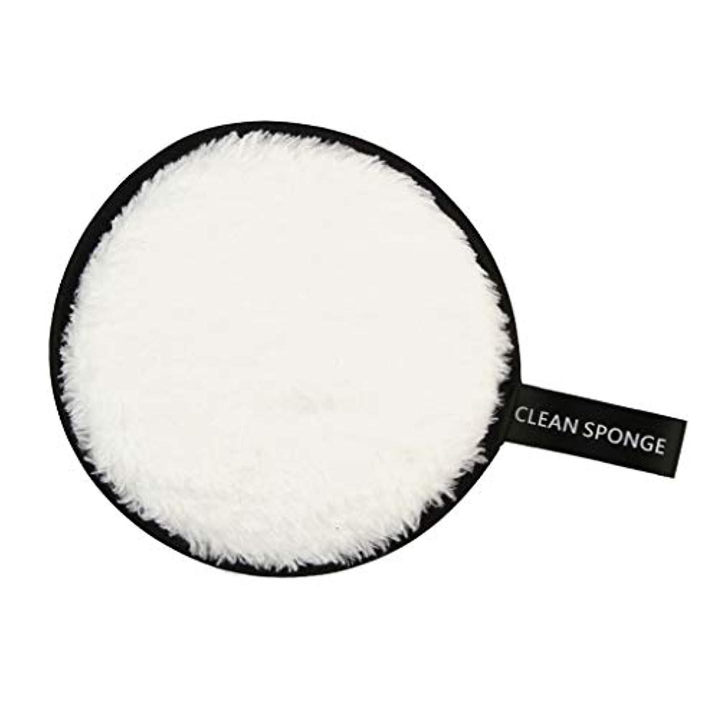 やめるシリーズ医薬品全6色 フェイススポンジ 再利用可能 洗顔パフ クリーニングパフ 化粧落としパッド - 白