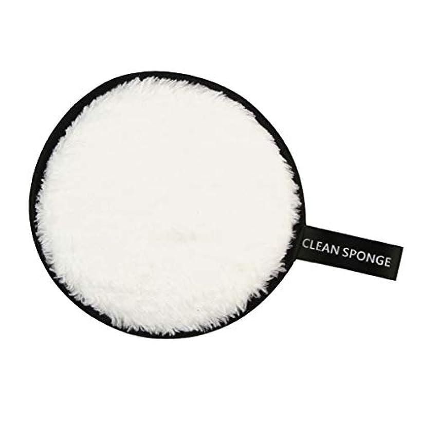 したがって継承条件付きPerfeclan 全6色 フェイススポンジ 再利用可能 洗顔パフ クリーニングパフ 化粧落としパッド - 白