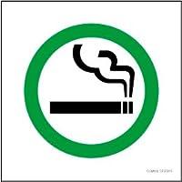 標識スクエア「 喫煙OKマーク 」正方形・小【プレート 看板】92x92㎜ CTS5015 5枚組