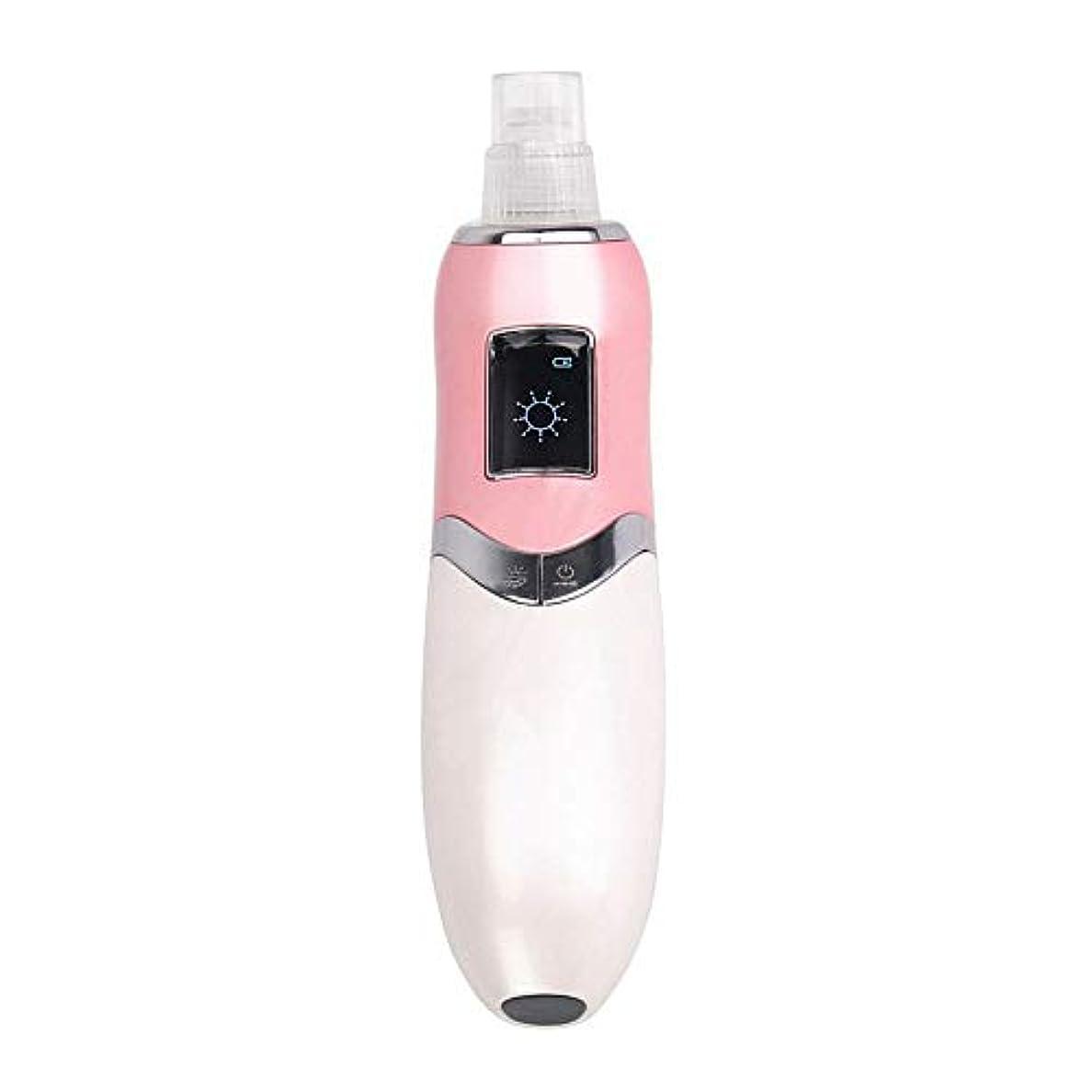 置換の面では服フェイシャルポアクリーナー にきび真空吸引usb充電式調節可能な強度美容エクスフォリエーターマシン毛穴クレンザー用にきび顔の毛穴きれい (色 : ピンク, サイズ : 21.5x15.5x7cm)