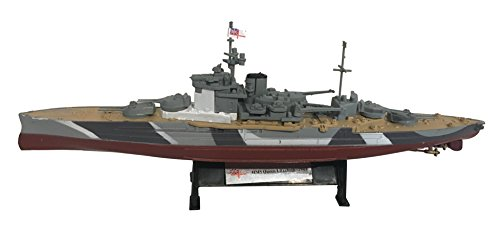 HMSクイーンエリザベス1943 - 1:1000船型 HMS Queen Elizabeth 1943 - 1:1000 Ship Model (Amercom ST-30)