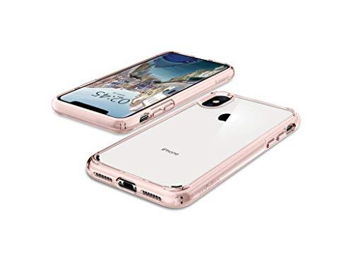 『【Spigen】 スマホケース iPhone XS Max ケース 6.5インチ 対応 全面クリア 耐衝撃 米軍MIL規格取得 ウルトラ・ハイブリッド 065CS25129 (ローズ・クリスタル)』の3枚目の画像