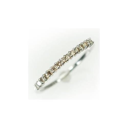 [キュートジュエリー]Cute jewerly ダイヤモンド 指輪 K10WG ダイヤ0.2ct ハーフエタニティーリング 8