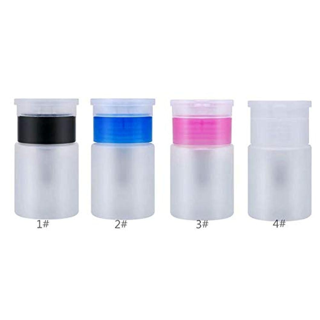 瞳かなりショルダーACHICOO 小分けボット 60ML ポンプディス ペンサーネイルアート ポリッシュウォッシュリムーバー 液体 クリーナー 空ボール ネイル DIY マニキュアツール   ピンク