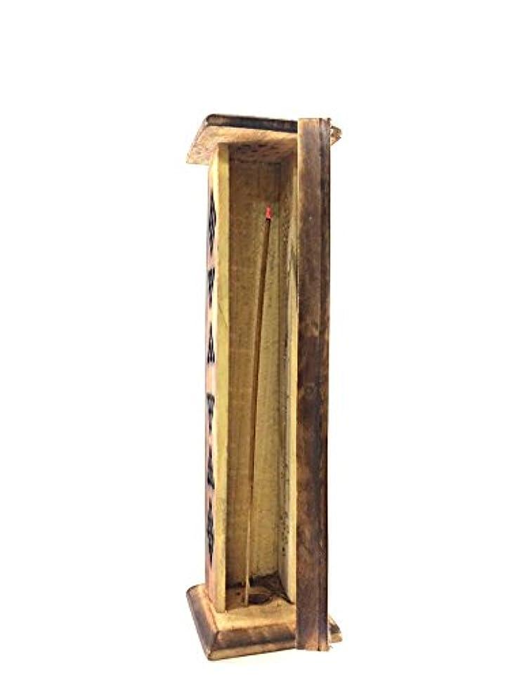 眉をひそめる違反する彫るKarma Scents プレミアムマンゴーウッド お香タワースタンドホルダー 10本の手巻き線香付き