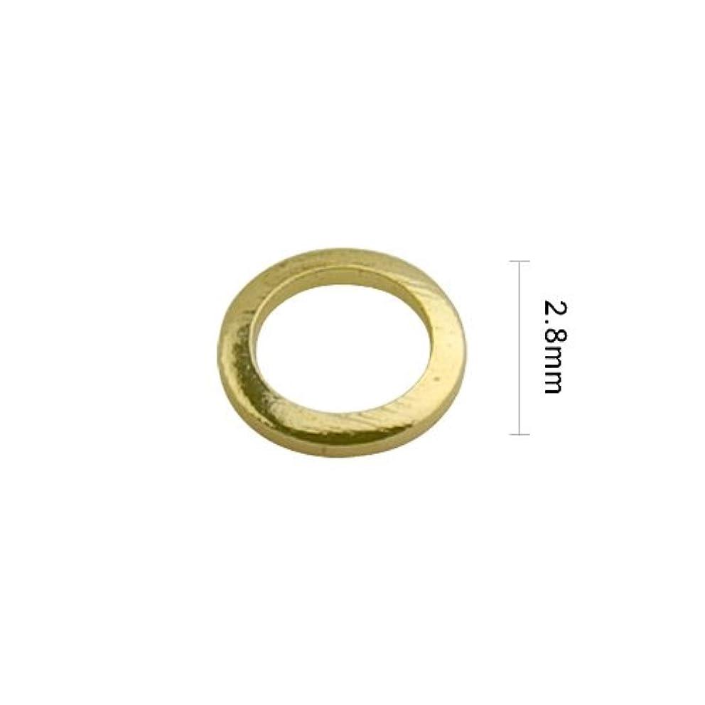 断線振動させる取り出すJeweLry NAiL Little pretty(ジュエリーネイル リトルプリティー )スタッズ ドーナツ2.8mm ゴールド