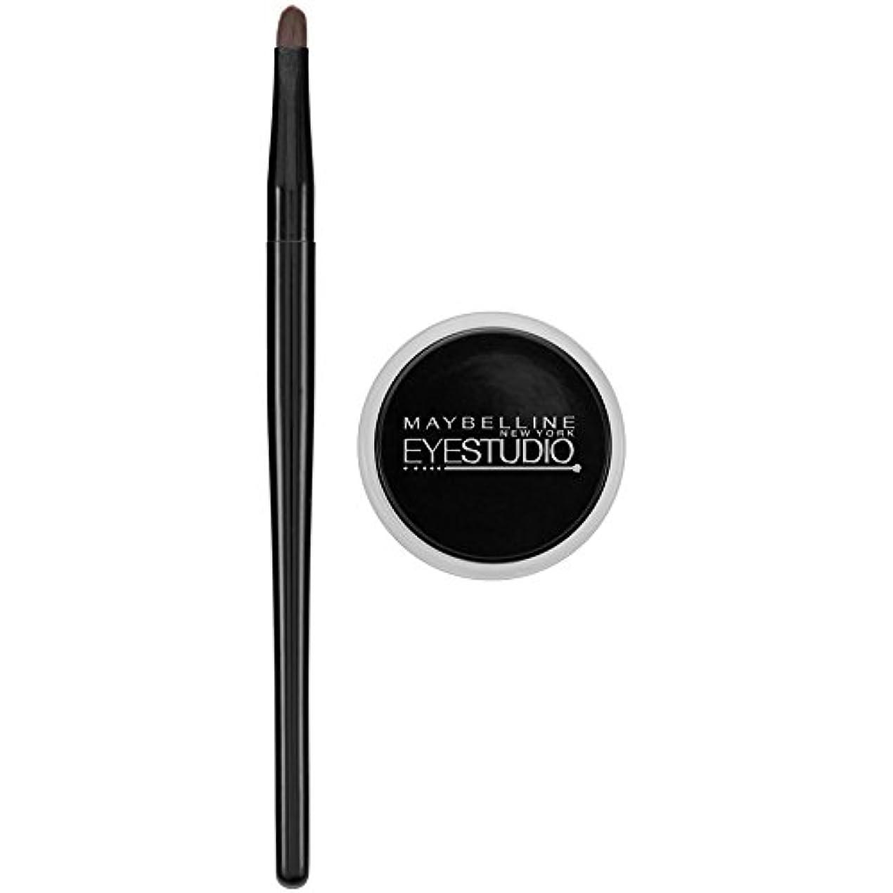 機知に富んだ無秩序マッサージMAYBELLINE Eye Studio Lasting Drama Gel Eyeliner - Blackest Black 950 (並行輸入品)