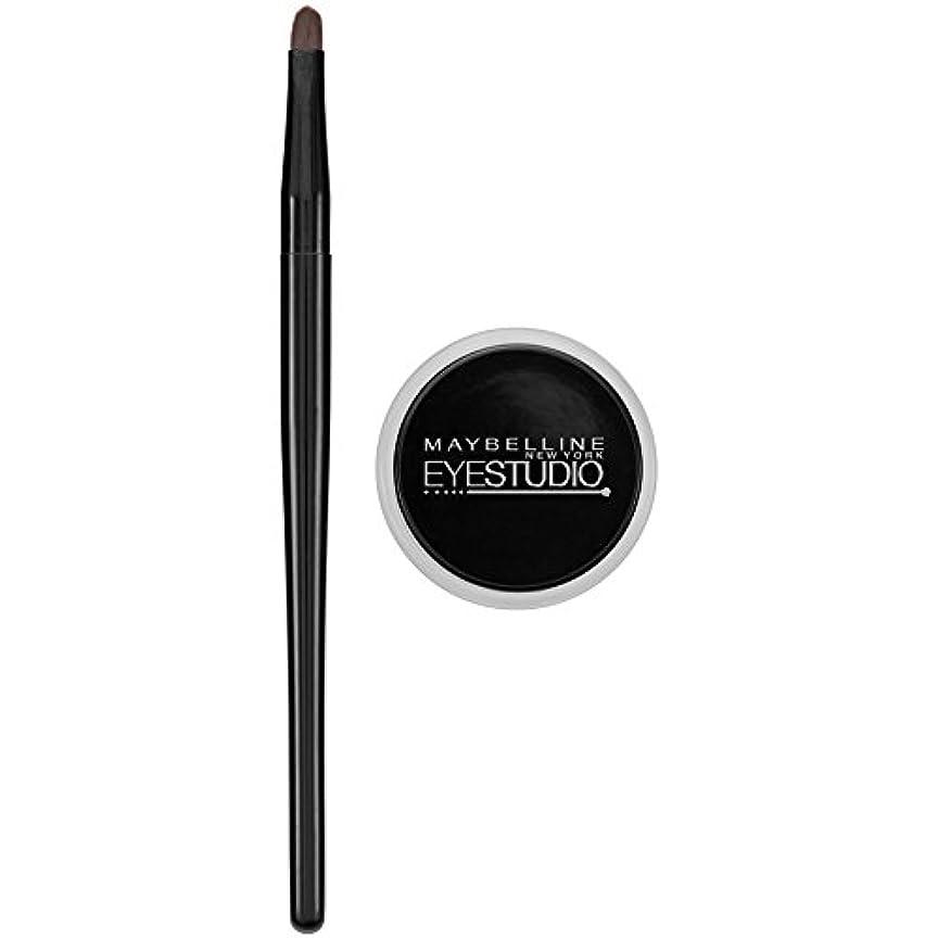 行き当たりばったりほのか高さMAYBELLINE Eye Studio Lasting Drama Gel Eyeliner - Blackest Black 950 (並行輸入品)