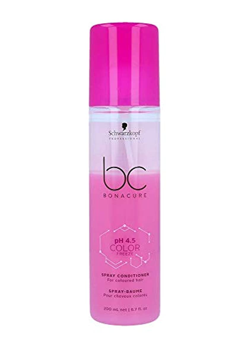 くるくるタール一生シュワルツコフ BC pH 4.5 カラー フリーズ スプレー コンディショナー Schwarzkopf BC Bonacure pH 4.5 Color Freeze Spray Conditioner For Coloured Hair 200 ml [並行輸入品]
