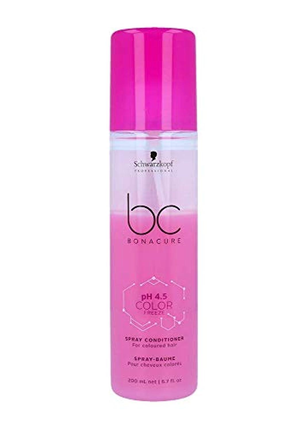 縫うゴシップばかげたシュワルツコフ BC pH 4.5 カラー フリーズ スプレー コンディショナー Schwarzkopf BC Bonacure pH 4.5 Color Freeze Spray Conditioner For Coloured...