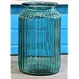 【ノーブランド品】 ヨーロピアンスタイル 美しい アクアブルー ガラス製 フラワーベース 硝子瓶 (大サイズ)