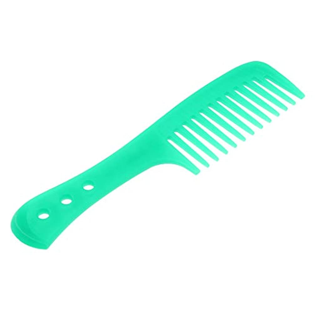 慎重に温かい麦芽Injoyo 携帯用理髪の広い歯の櫛の巻き毛のDetanglerの頭皮のマッサージャーのブラシ - 緑