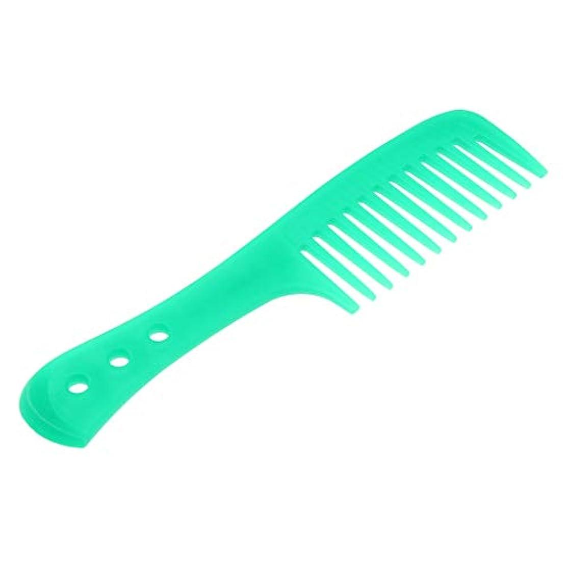 段階なめらかな統合するInjoyo 携帯用理髪の広い歯の櫛の巻き毛のDetanglerの頭皮のマッサージャーのブラシ - 緑