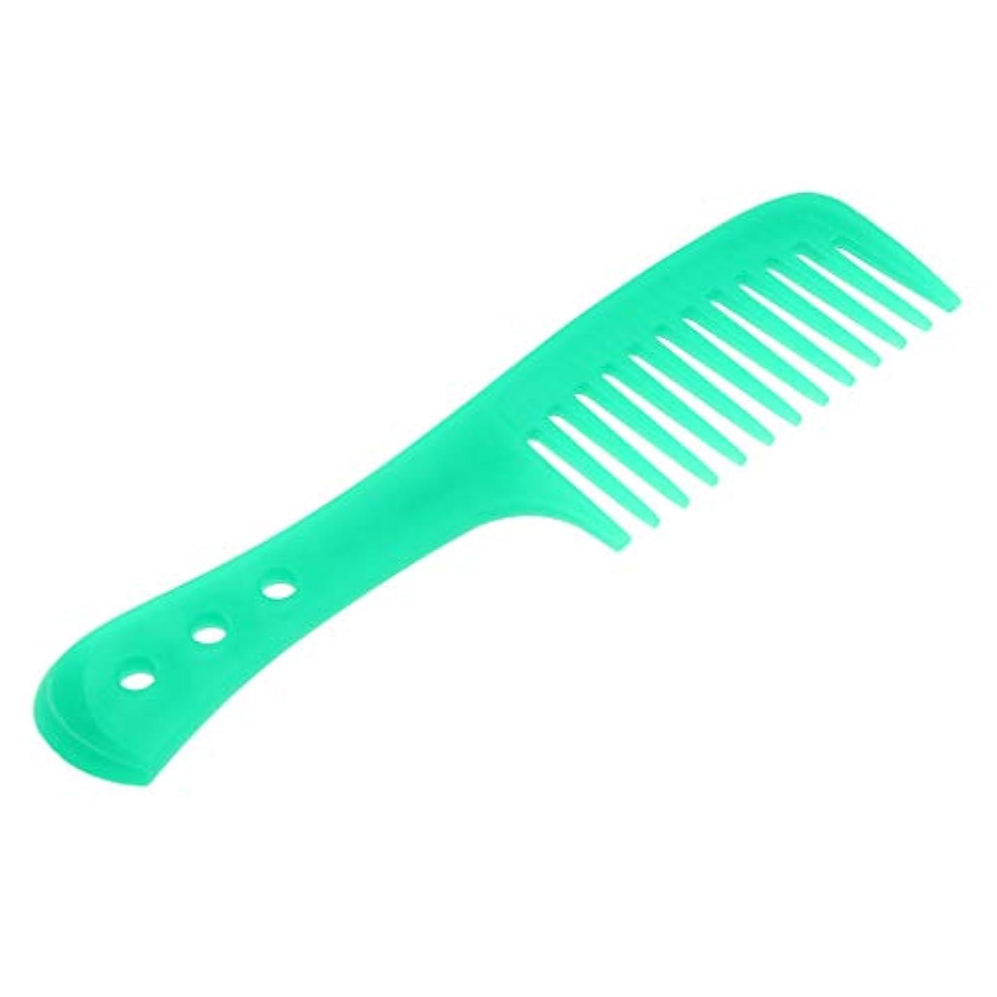 アラブ同様の間違いなくInjoyo 携帯用理髪の広い歯の櫛の巻き毛のDetanglerの頭皮のマッサージャーのブラシ - 緑