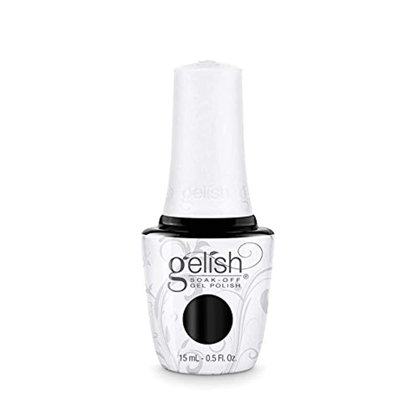 端かき混ぜるファッションHarmony Gelish Gel Polish - Black Shadow - 0.5oz / 15ml