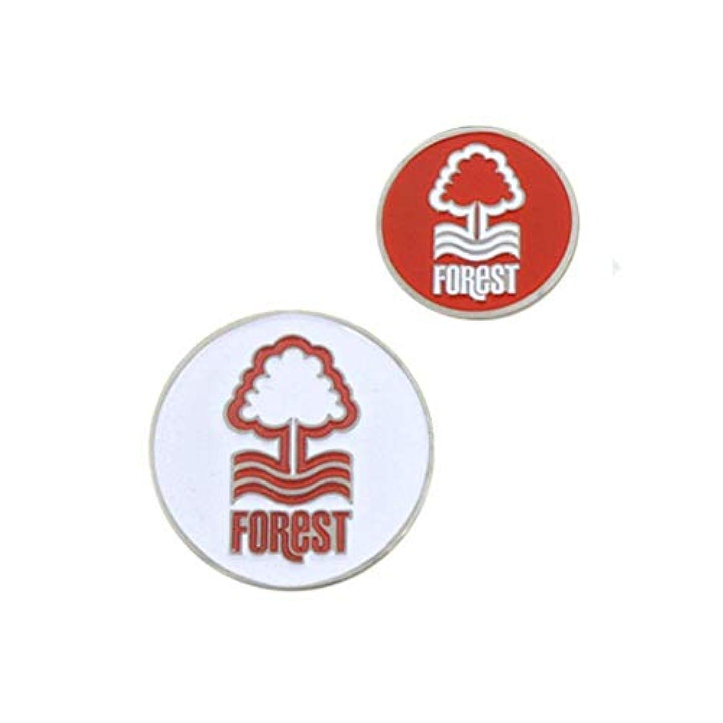 遵守するレインコート絡まるノッティンガム?フォレスト フットボールクラブ Nottingham Forest FC オフィシャル商品 ゴルフボールマーカー (1個)