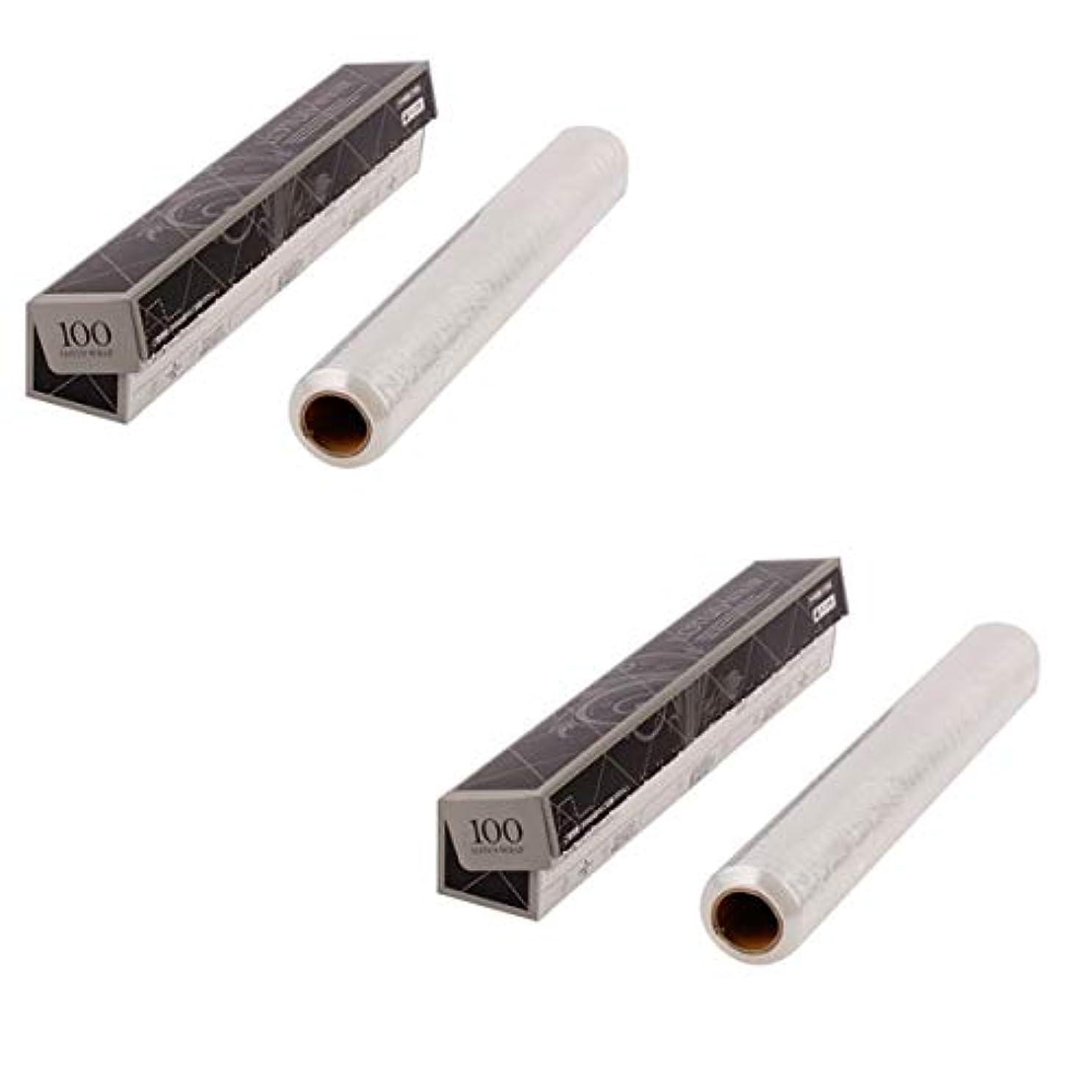隣接する持続する奨励サロン用ラップ 幅30cm×長さ100m (2個セット) [ サロン用ラップ エステ サロン ラップ ]