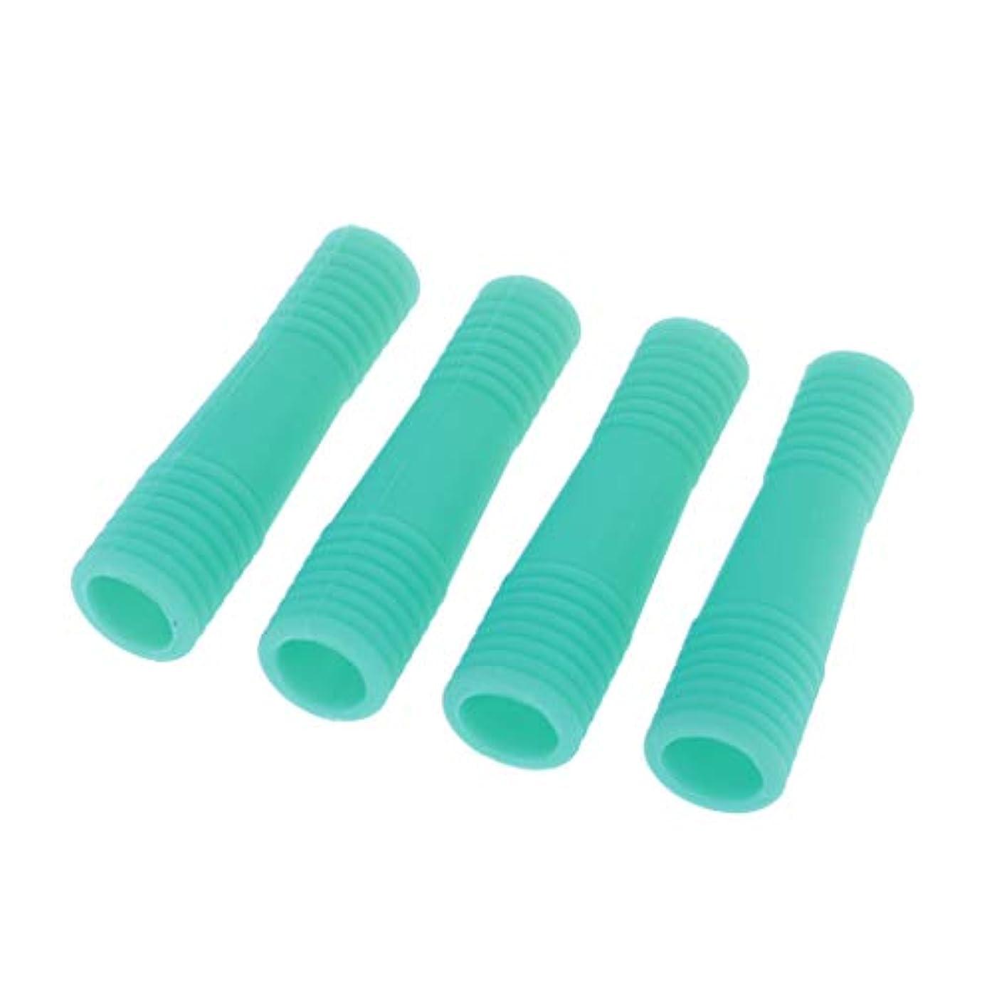 配管工必要フローティングマニキュアペディキュアツール保護 キューティクルニッパー ネイルキューティクルハサミケース 全5色 - 緑