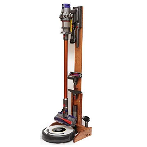 ST-04 CY 掃除ロボット+コードレスクリーナー用純木製スタンド チェリー
