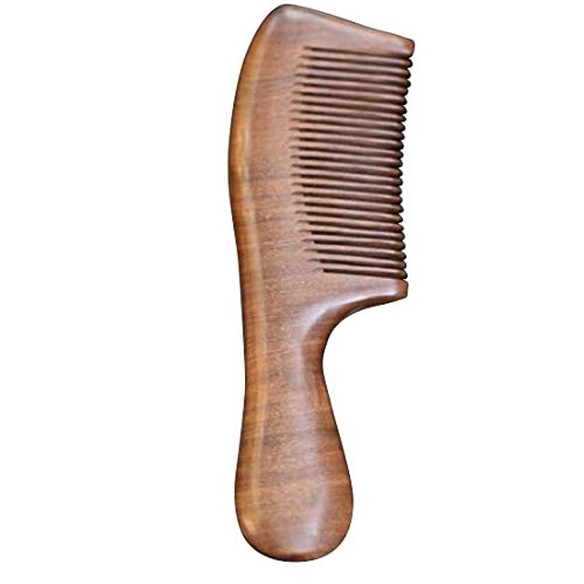 違反オゾン滑り台Guomao ファミリーのヘアコーム-静電気防止木材と手つかずの手作りブラシ (色 : ゴールド)