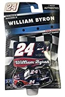 NASCAR Authentics William Byron #24 Diecast Car 1/64 Scale - 2018 Wave 12 with Die Cast Magnet - Collectible [並行輸入品]