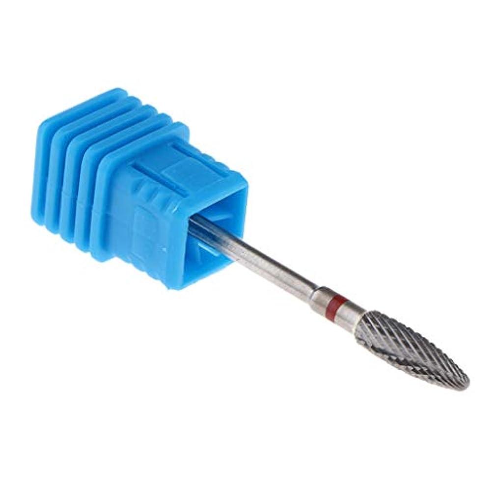 CUTICATE 電気ネイルドリルビット 磨き 研磨ヘッド アクリルの釘 ネイルアート研削ビット 5サイズ - No.03
