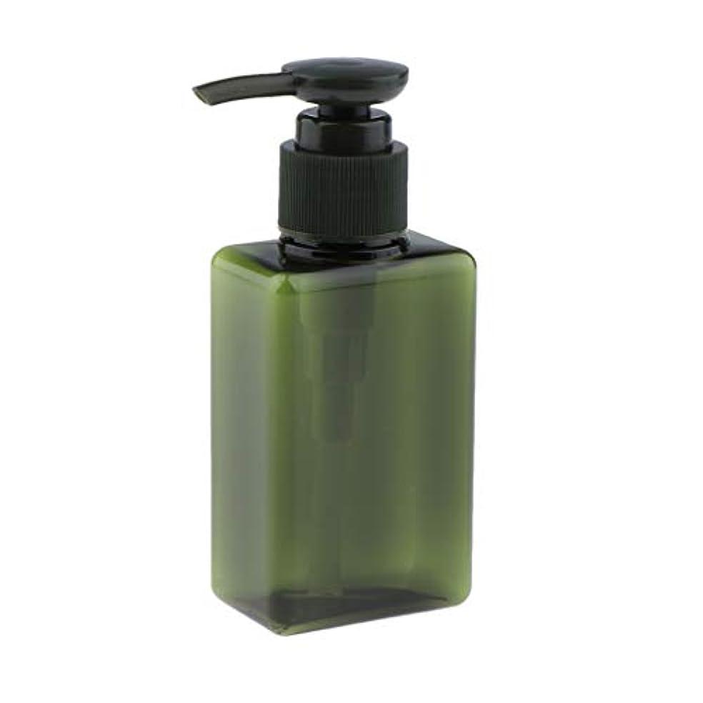ピンポイント床を掃除する刺繍T TOOYFUL メイクアップボトル ローション ポンプディスペンサー シャンプー 携帯便利 旅行小物 全6色 - 緑