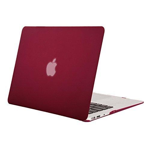 Mosiso - MacBook Air 13インチ ハードケース 薄型 耐衝撃 保護 シェルカバー (対応モデル: A1369 / A1466) (ワインレッド)