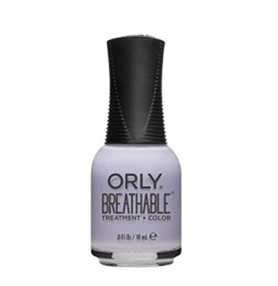 コントロール愛撫怖がらせるORLY Breathable Lacquer - Treatment+Color - Patience and Peace - 18 ml/0.6 oz