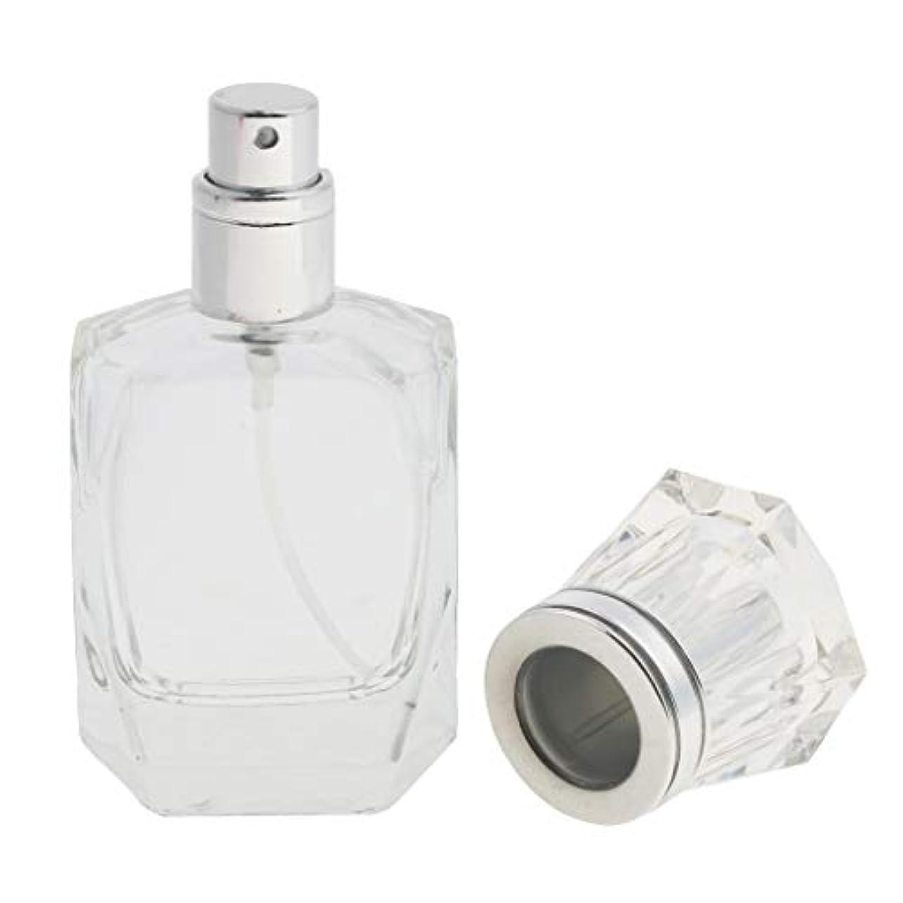 ピーク周波数強大なクリアガラス詰め替え可能な空の細かいミスト噴霧器香水メーキャップボトル30ml