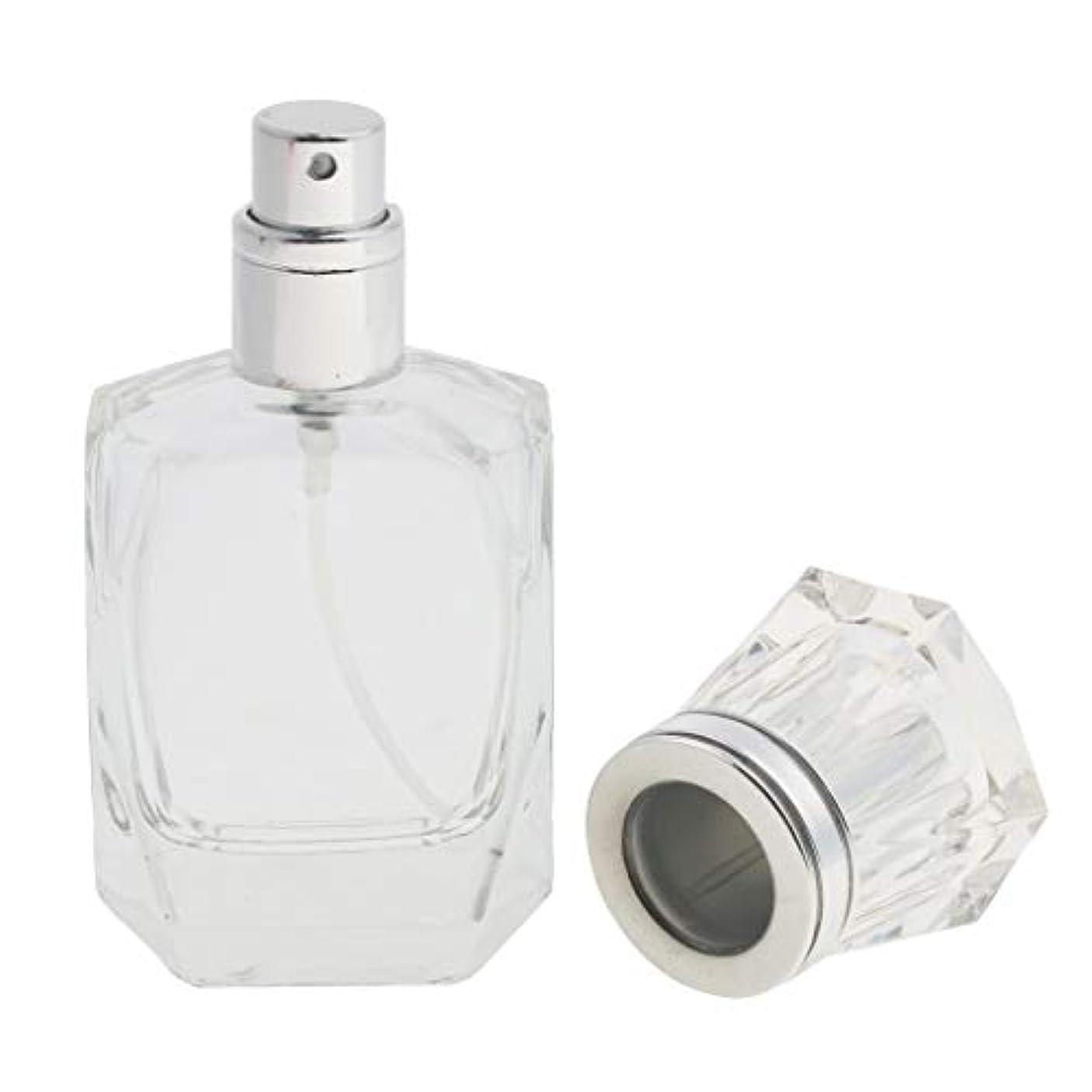 おいしい回転する教育学CUTICATE 香水ボトル 化粧ボトル ガラス ミストボトル 30ml クリア 旅行小物