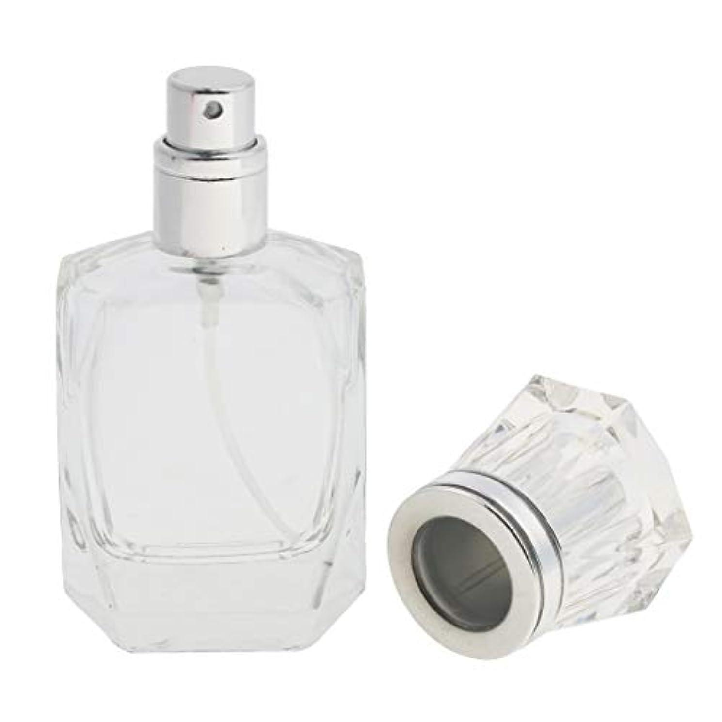 人類キャプション折クリアガラス詰め替え可能な空の細かいミスト噴霧器香水メーキャップボトル30ml