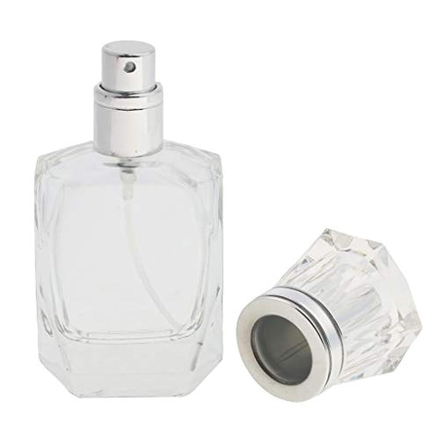 鳴り響く平均うまくやる()クリアガラス詰め替え可能な空の細かいミスト噴霧器香水メーキャップボトル30ml