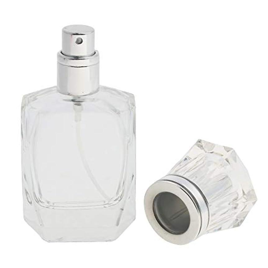 近く困った悔い改め香水ボトル 化粧ボトル ガラス ミストボトル 30ml クリア 旅行小物