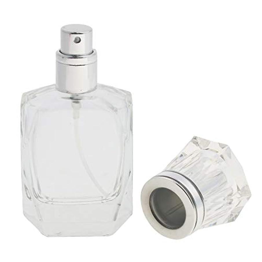帝国ファッション主人クリアガラス詰め替え可能な空の細かいミスト噴霧器香水メーキャップボトル30ml