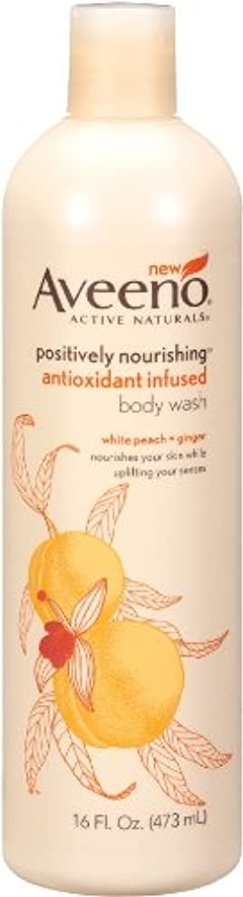 Aveeno Positively Nourishing Anti-Oxidant Infused Body Wash White Peach + Ginger, 16 Ounce (Pack Of 2) by Aveeno